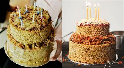 membuat kue ulang tahun dari mie bukan berbahan tepung kue ulang tahun ngehits ini terbuat