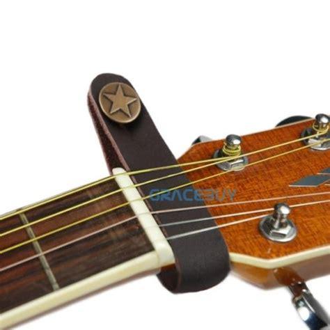 Sale Nut Gitar Klasik genuine leather guitar button for acoustic folk
