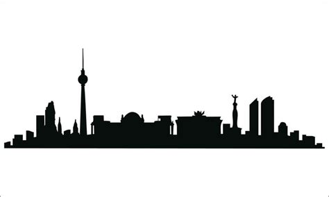 skyline of berlin silhouette architecture pinterest