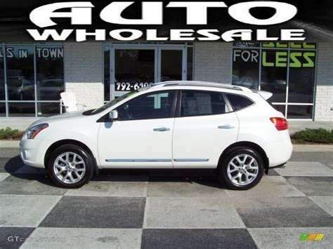 nissan white rogue 2011 pearl white nissan rogue sl awd 54791832 photo 2