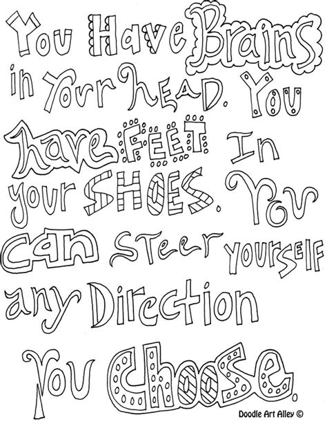 doodle alley inspirational quotes motivational quote coloring pages doodle alley