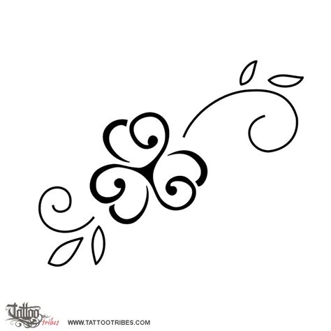 tribal clover tattoo of triskell clover lasting serenity