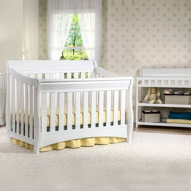 Delta Bentley Changing Table Delta Bentley 2 Nursery Set Convertible Crib And Changing Table In White Free Shipping