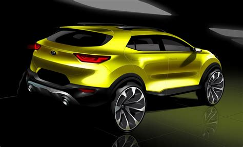 Kia Crossover Kia Shows New Stonic Small Crossover In Official Sketches