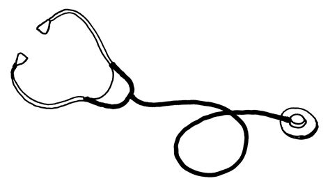 stethoscope template how to draw stethoscope