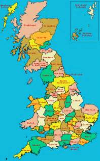 map of counties map of counties of great britain scotland and