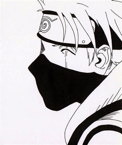kakashi wallpaper black and white kakashi hakate from naruto unleashed manga by acey
