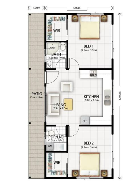 Flat Floor Plan by Cromer Flat Design Floor Plan Home Decor