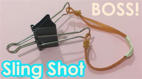How To Make A Paper Slingshot That Shoots - how to make a slingshot using paperclip easy