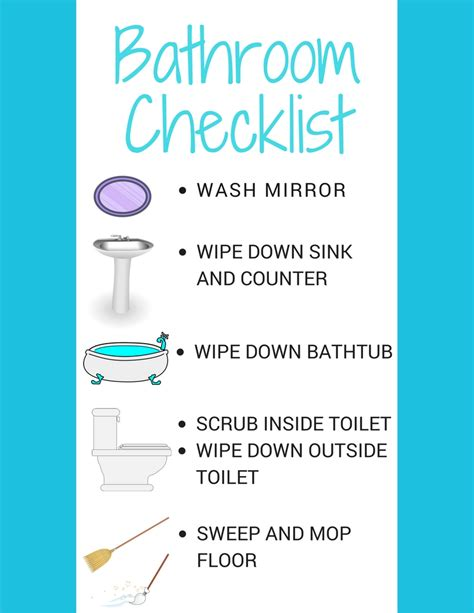bathroom checklist teaching kids to clean with a bathroom cleaning station