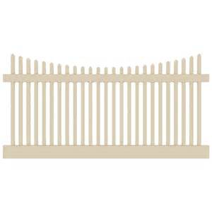 white classic vinyl picket fence panel 187 fencing