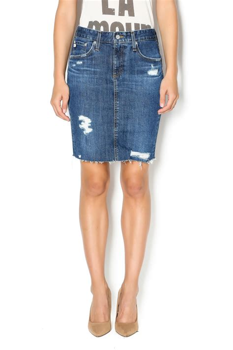 agljeans distressed denim skirt from kansas by spectator s