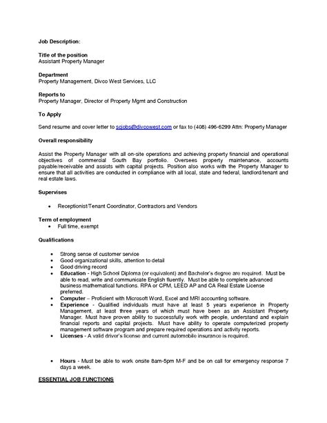 property manager cover letters cute property management cover letter