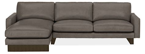 room and board hess sofa hess leather sofa with chaise modern sectionals modern