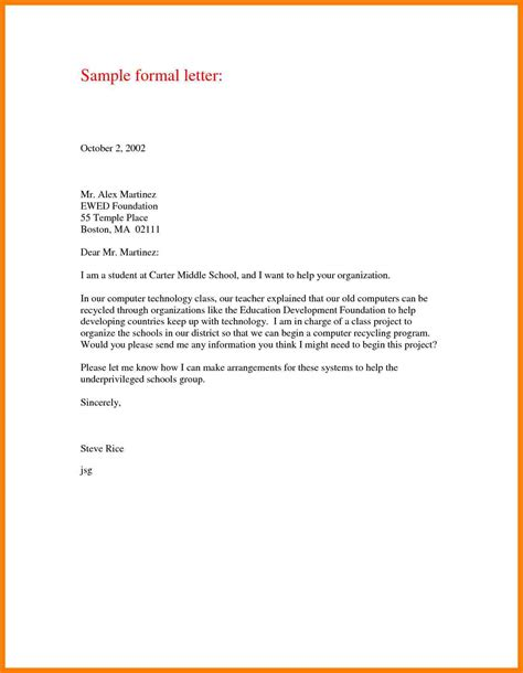 Letter Layout doc 17541241 formal letter layout formal letter layout