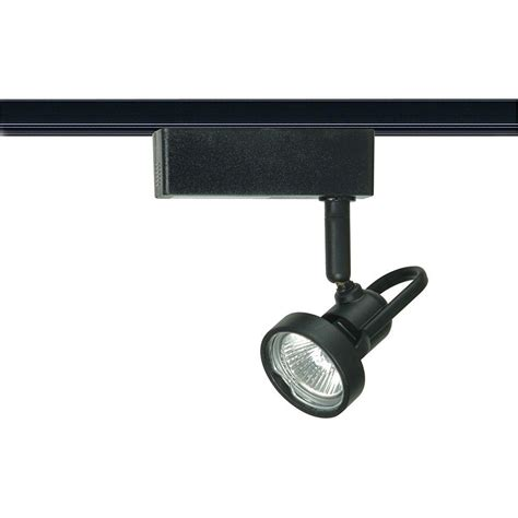 12 Volt Track Lighting Fixtures Glomar 1 Light Mr16 12 Volt Black Cast Ring Track Lighting Hd Th260 The Home Depot