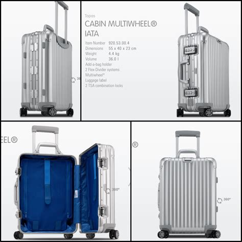 cabin luggage size brand new rimowa topas cabin size 36l luggage for sale