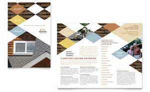 roofing contractor brochure template word amp publisher