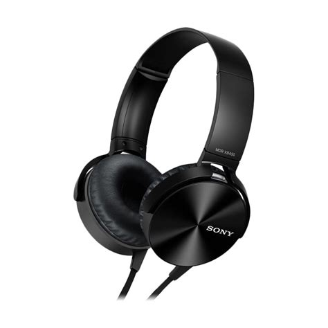 Headset Stereo Sony Mdr Xb450ap jual sony mdr xb450ap stereo hitam headphone