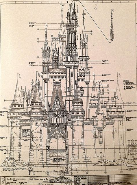 pin by matthieu mielvaque on architectural drawing pinterest magic kingdom s cinderella castle antique architectural
