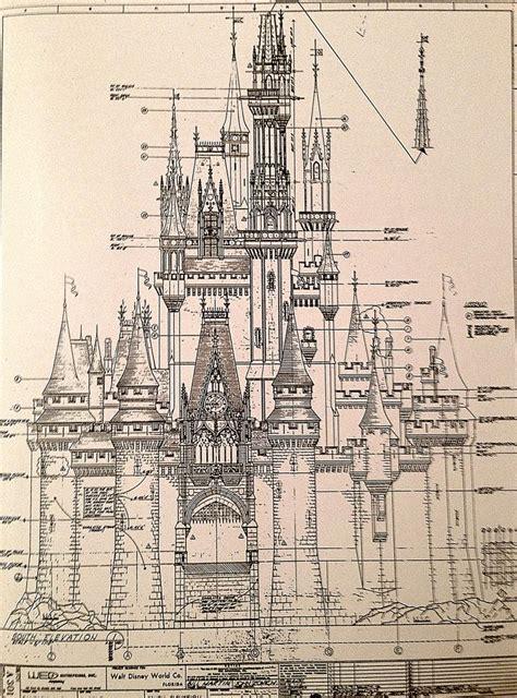 cinderella castle floor plan magic kingdom s cinderella castle antique architectural drawing disney walt