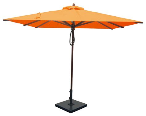 Orange Patio Umbrella 8 X8 Mahogany Patio Umbrella Orange Contemporary Outdoor Umbrellas By Greencorner