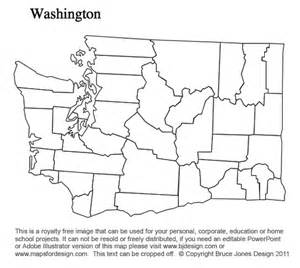 Blank Outline Map Of Washington State by South Dakota To Wyoming Us County Maps