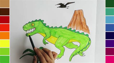 color a dinosaur learn coloring for draw and color a dinosaur t