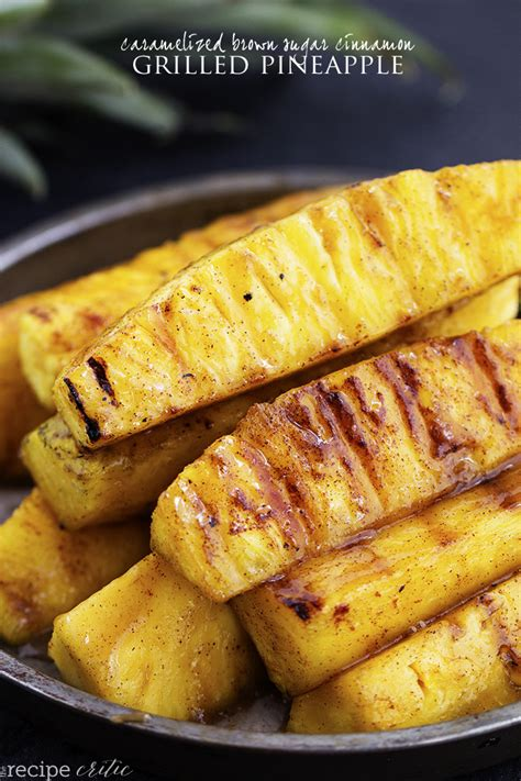 pineapple recipe caramelized brown sugar cinnamon grilled pineapple the