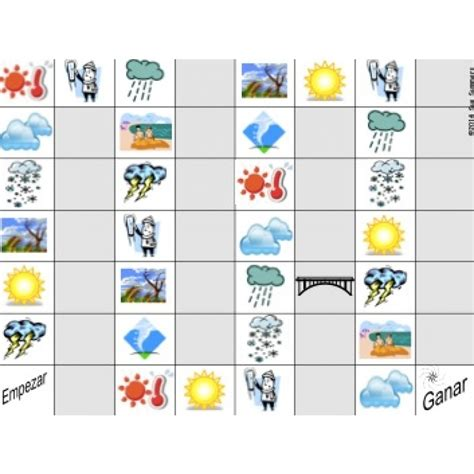printable board game weather image gallery spanish weather