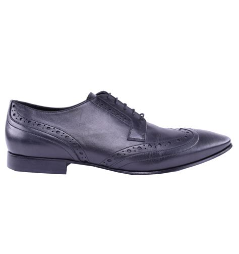 business sneakers galliano business calf leather shoes black 03969