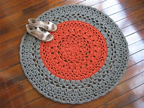 how to make t shirt yarn rug khaki copper crochet rug mat t shirt yarn chompa handmade madeit au