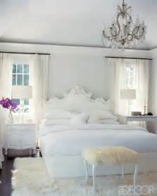 Chandelier Bedroom Decor Glamorous White Bedrooms
