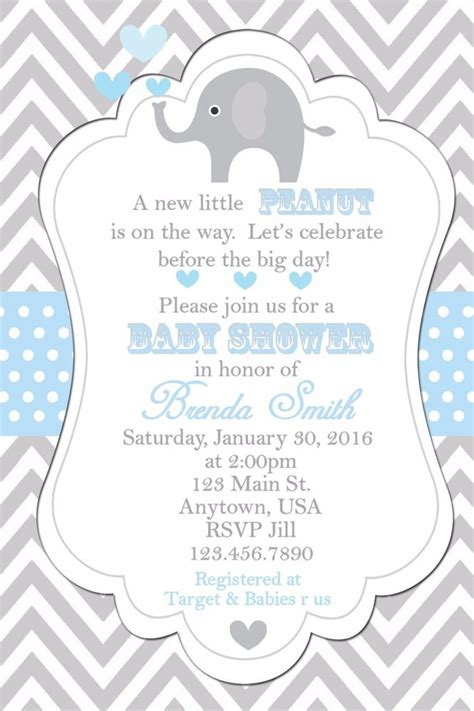 Ebay Baby Shower by Baby Shower Invitation Elephants Invitation Baby Shower Invitations Elephant Ebay