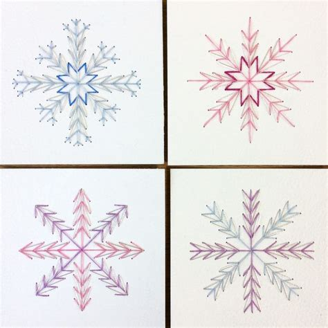 Cross Stitch Greeting Card Templates by 8 Cross Stitch Snowflake Ornaments Cards