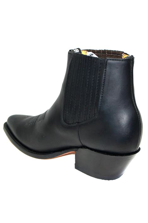 grinders unisex maverick black genuine leather ankle boot