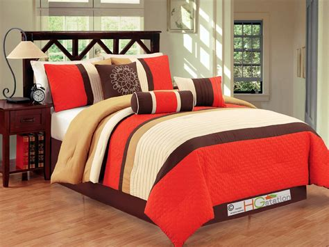 orange comforter total fab bright to burnt orange and brown comforter