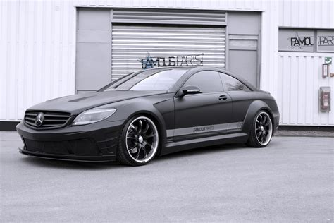 matte black moonshine matte black mercedes benz cl 500 by famous parts gtspirit