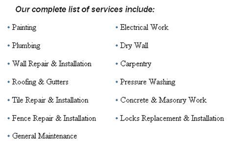 Home Needs A Amp P Designers Inc Handyman Services
