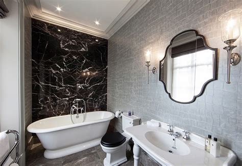 black and white wallpaper for bathrooms black and white bathrooms design ideas decor and accessories