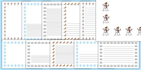 Winter Page Borders (Images)   winter, page border, border