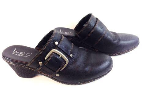 boc shoes clogs born concept boc womens black leather wedge heel clog