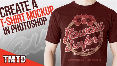 design a t shirt in photoshop tutorial photoshop tutorials create a realistic t shirt mockup in