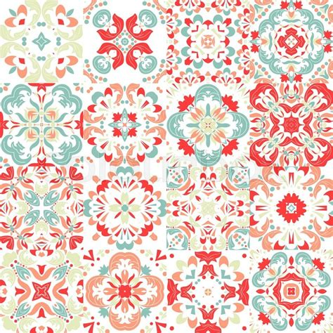 free mexican pattern background cute mexican stylized talavera tiles seamless pattern