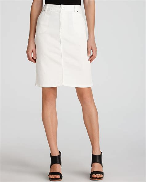 gerard darel white denim pencil skirt bloomingdale s