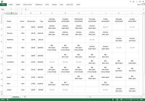 Free Excel Template For Your Employee Schedule 183 Findmyshift Retail Employee Schedule Template