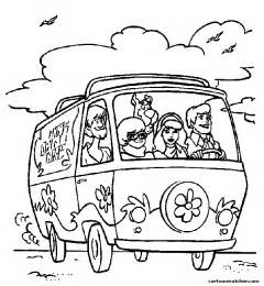 printable coloring pages mystery machine coloring pages
