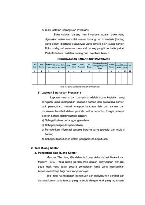 format laporan sarana prasarana sekolah modul sarana dan prasarana adm perkantoran