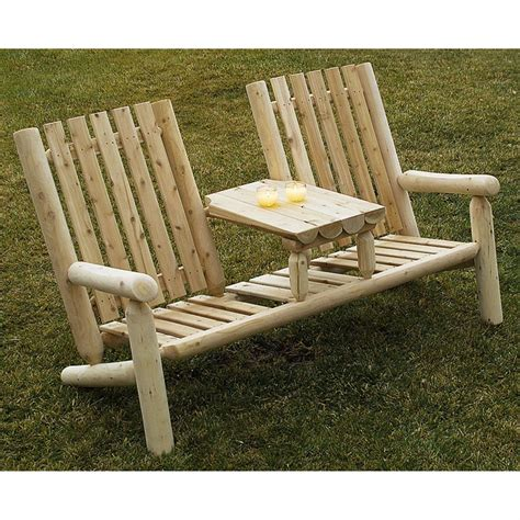 rustic log benches outdoor rustic natural cedar furniture company 174 cedar log garden