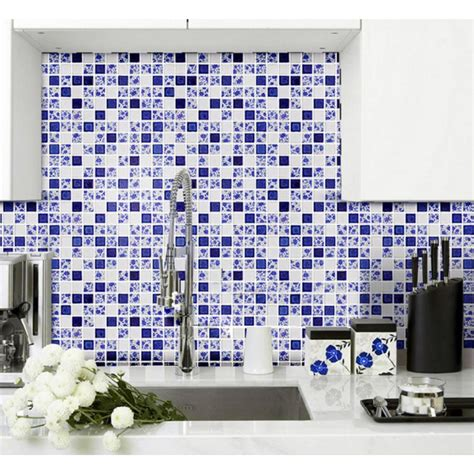blue and white ceramic tile backsplash blue and white tile glossy porcelain mosaic bathroom tiles backsplash